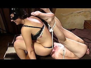 DF025- CATFIGHT FOOT SMOTHER AND FACESITTING DOMINATION-