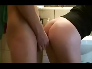 Naughty wife sucks cock after been in her ass