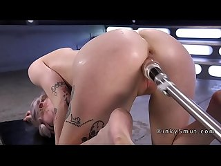 Fucking machines gangbang for solo blonde
