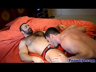 Hairy gay bear fucking his hunky boyfriend