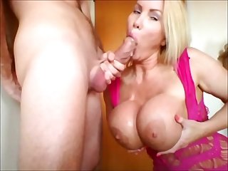 Milf loves to suck cock and fuck deepthroat gagging cumshot