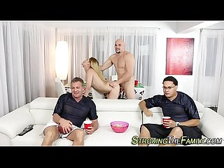 Teen face cum stepdad rod