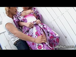 JAVHUB Japanese babe Tanabata pleasing a hard cock