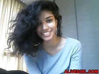 Sweet teen Cleopatra Love with perfect natural breast on cam - ALIVEGIRL.com