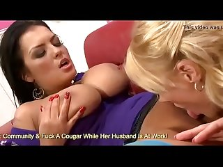 Huge boobed jasmine black and stacey saran in hot scissoring