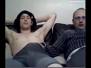 Daddy and son on cam
