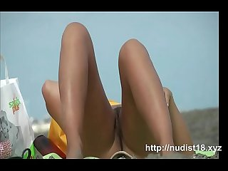 Real Nudist chicks on hidden beach cam