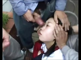 Cute asian schoolgirls cumshots facial in uniforms