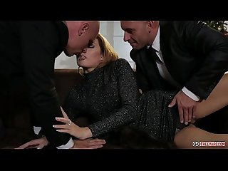 Samantha joons samantha gets fucked while an old man watches