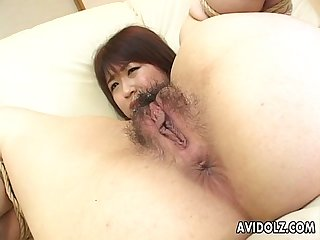 Hot asian chick nailed to the max