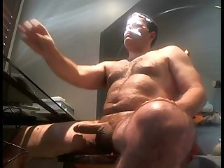 Hot daddy jacking off