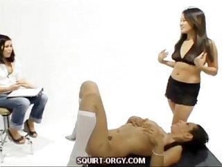 Lesbian squirt play