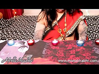 Indian mona Bhabhi celebrating diwali more on 18cams co