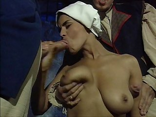Dalila slave in a threesome