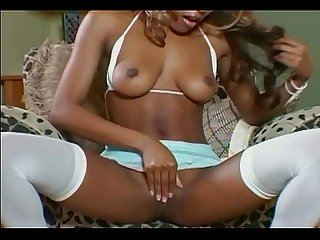 Ebony goddess strips and teases
