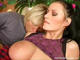 Giant tits romanian milf fucked hard
