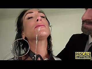Bound bdsm sub ass fucked