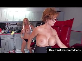 Texas cougar deauxma pays busty mechanic brooke tyler w sex