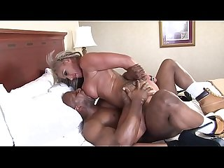 Busty milf gets banged by this cocksucker black cock