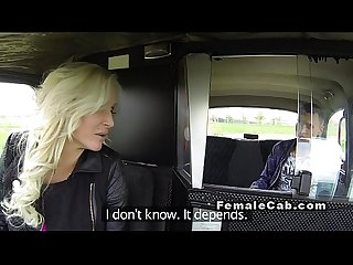 Euro female fake taxi driver bangs big dick