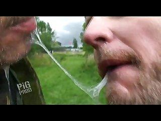 Spit kiss