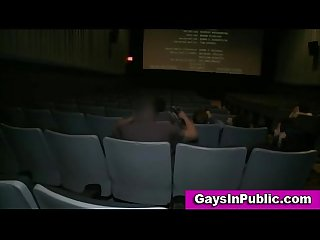 Gay facial in public in a cinema