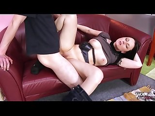 Boring slut just wait when stranger finish and cum her tits