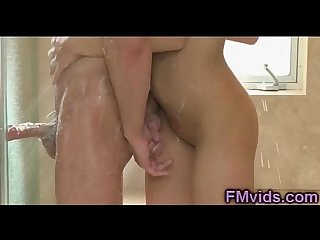 Sexy jayden lee under shower blowjob