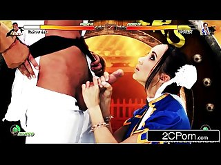 Jerk that joy stick chun li sucks cock in street fighter ii katsuni