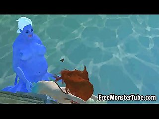 3d Ariel from the little mermaid gets fucked hard high 1