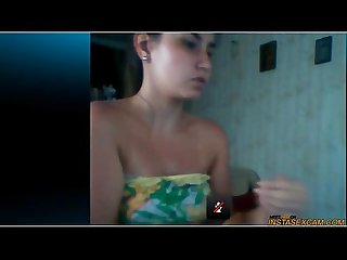 Bulgarian girl masturbates on skype
