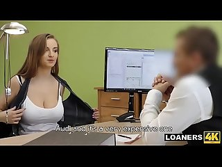 Busty Wife Crashes Car & Fucks Loan Agent For Urgent Cash