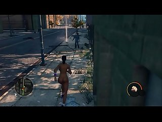 Saints row the third ponytail brunette dancing Shaking ass