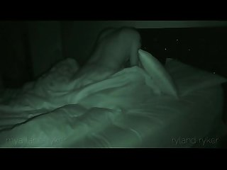 Caught on night vision Spy cam