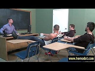 Big dicks at school cock massage in gay porn video