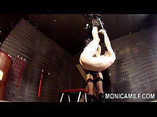 Monicamilf is strapon pegging her sub Norwegian femdom
