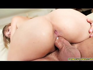 Scarlett fever rides her step dads big cock
