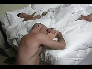 Dad lick boy feet and cock