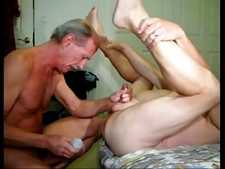 Two daddies fucking bareback
