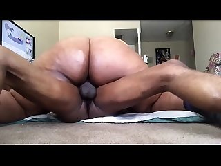 Bbw brown skin girl riding on big cock