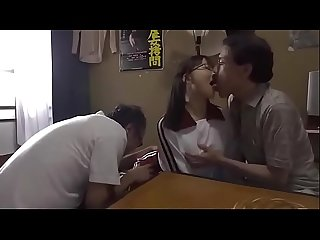Awful stepfather shares his teen stepdaughter aramaki shiori