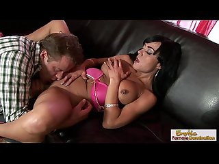 Raven haired milf teases and fucks her stepson