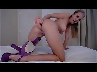 Blonde anal webcam show