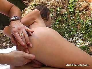 Her first anal in nature