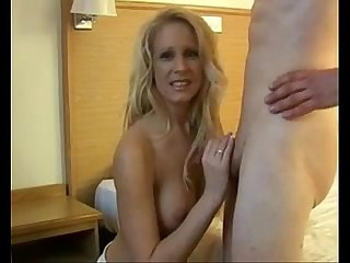 Milf gets a hot facial from young boy more Videos on www period 69sexlive period com