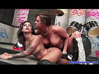 Rough tattooed lesbian sex with tory lane