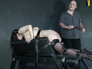 Beauvoir is tied and spanked