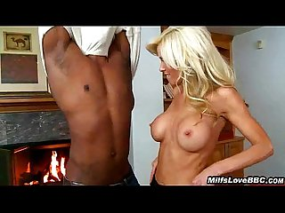 Hot Blonde Divorcee Sucks Big Black Cock