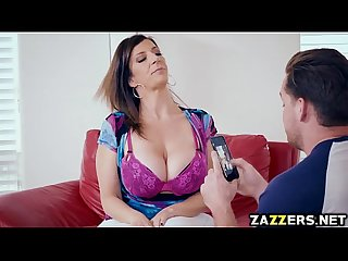 Sara Jay sucking Kyle Masons big cock for money