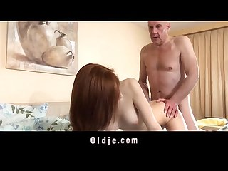 Step old dad fuck wakeup call from young mistress horny for mouth cum